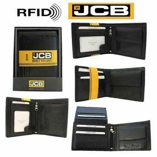 Designer Mens Leather Wallet RFID SAFE Contactless Card Blocking Purse Gift JCB